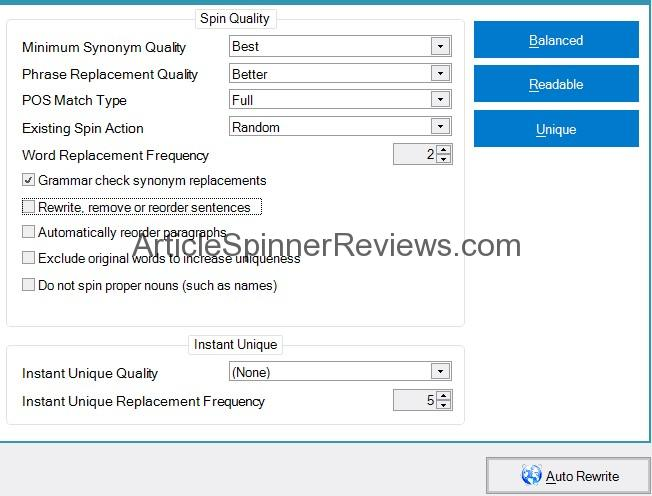 Chimp Rewriter Review: Compare Spun Articles Example 1
